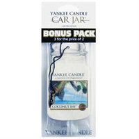 Yankee Candle Coconut Bay Scented Paper Hanging Air Freshener 3 Pack - 1114306