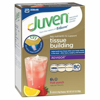 Juven Therapeutic Energy Drink Mix, Fruit Punch, 0.85 Ounce (Pack of 48)