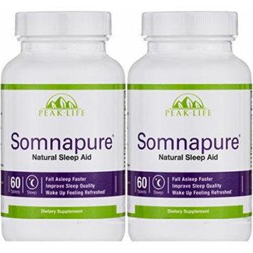 Peak Life - Somnapure Natural Sleep Aid - 60 Tablet (2 Pack)