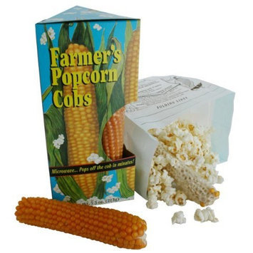 Sunflower Food and Spice FARMER'S POPCORN COB (2.5oz)- Microwavable Popcorn Pack of 8
