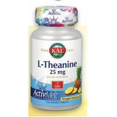 L-Theanine 25 mg Pineapple Kal 120 Sublingual Tablet