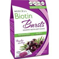 Neocell Neocell Laboratories Biotin Bursts Chewable Acai Berry, High Potency (Pack of 2)