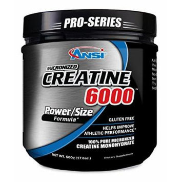ANSI - Micronized Creatine 6000 - 100% Pure Creatine Monohydrate (500 gram)