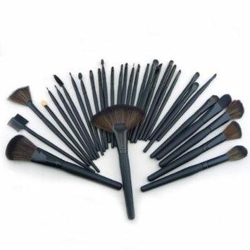 Generic 32pcs Elegant Professional Soft Cosmetic Eyebrow Shadow Makeup Brush Set Kit + Leather Case