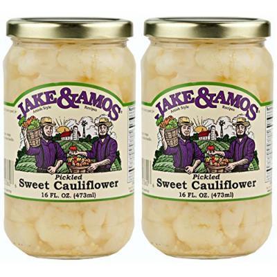 Jake & Amos - Sweet, Pickled Cauliflower/ 2 - 16 Oz. Jars