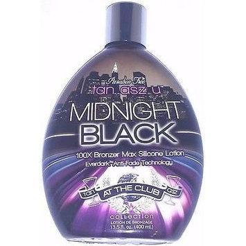 Midnight Black 100x Bronzer Dark Indoor Tanning Lotion by Tan Inc. Tan Asz U 13.5 Oz/ 400 Ml
