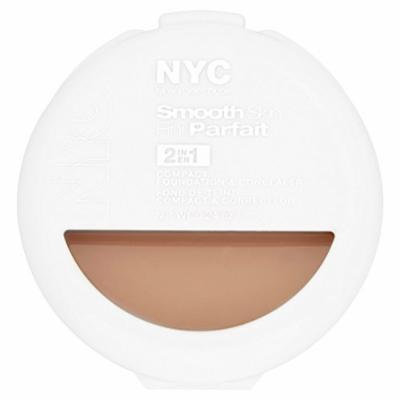 NYC Smooth Skin 2-in-1 Compact Foundation and Concealer, Light