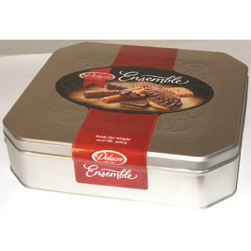 Delacre Ensemble Pure Belgian Chocolate Biscuits Assortment Tin Box Net Weight 10.6 OZ (300 g)