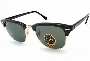 Ray Ban 3016 W0365 Ebony Clubmaster RayBan Sunglasses Lens:51 Bridge:21 Temple:145