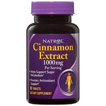 Natrol Cinnamon Extract 500 mg (1000mg/serving) Tabs, 80 ct