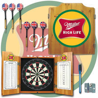 Trademark Commerce Trademark Miller High Life Dart Cabinet Includes Darts and Board