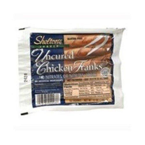 Shelton's Poultry,chicken Franks, 12 Oz (Pack of 6)