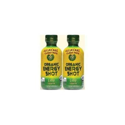 Guayaki 33403 Organic Lime Tangerine Energy Shot