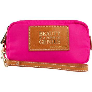 Boulevard Beauty is a Form of Genius Cosmic Alpha Makeup Bag Neon Pink - Boulevard Ladies Cosmetic Bags