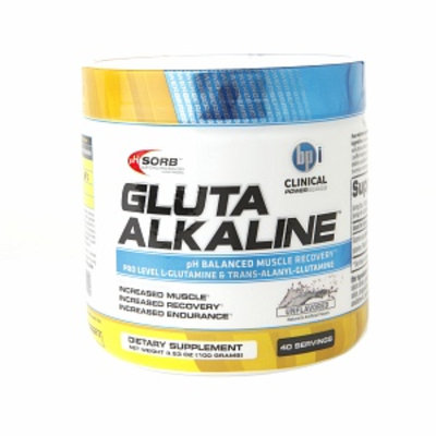 BPI Gluta Alkaline Muscule Recovery, Unflavored, 3.53 oz