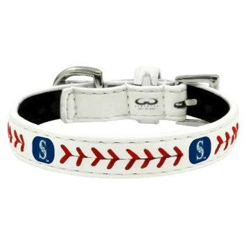 GameWear Seattle Mariners Classic Leather Toy Baseball Collar