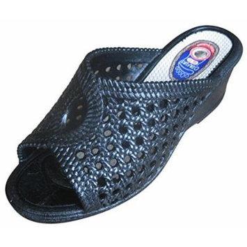 Otafuku Zerozeromesh Lady Magnet & Uneven Insole Sandals Black Made in Japan (M(23.0~23.5cm))