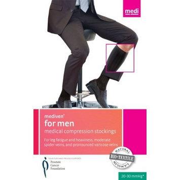 Mediven for Men Ribbed Knee High 30-40mmHg Closed Toe, VI, Khaki