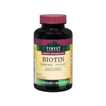 Finest Nutrition Biotin 5,000mcg, Caps 100