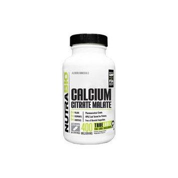 NutraBio Calcium Citrate Malate 400 Mg - 270 Vegetable Capsules