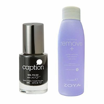 Bundle of Two Items: Caption Nail Polish in Look Dont Touch .34 oz with Nail Polish Remover 2 oz