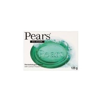 Pears Oil Clear Dermatologist Tested with Lemon Flower Extract Soap 120g X 4 Bars