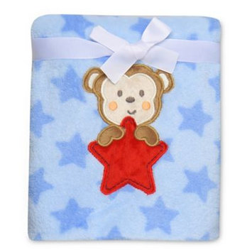 Baby Starters Monkey Star Plush Blanket