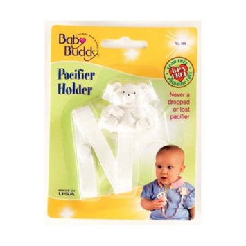 Baby Buddy Bear Pacifier Holder White - Case of 18