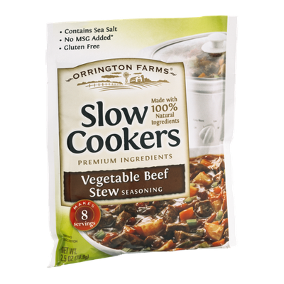 Orrington Farms Slow Cookers Seasoning Vegetable Beef Stew