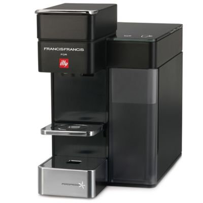 illy Y5 Duo Espresso and Coffee Machine in Satin