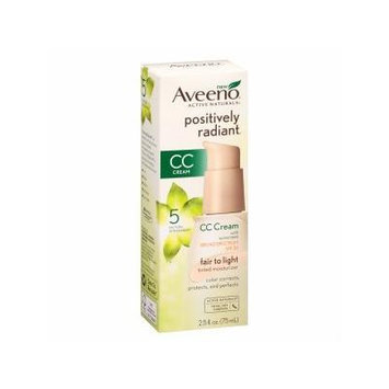 Aveeno Active Naturals Positively Radiant CC Cream Tinted Moisturizer, Fair to Light 2.5 fl oz