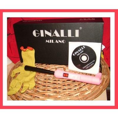 Ginalli Milano Professional Hair Curl Iron Pink reverso 9-25mm