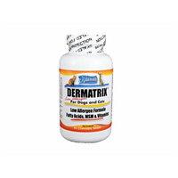 Dermatrix Low Allergen, 45 Chewable Tablets for Dogs and Cats. Contains MSM, Omega Fatty Acids and Vitamins. All ingredients are 100% US Sourced and Made. FREE SHIPPING!