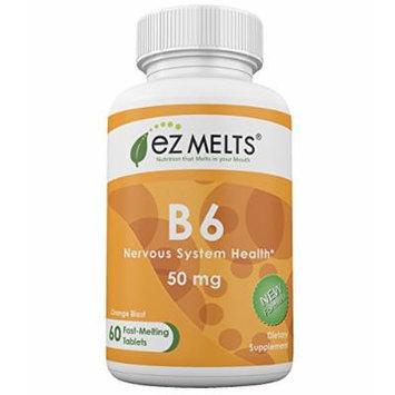 EZ Melts B6, 50 mg, Fast Melting Tablets