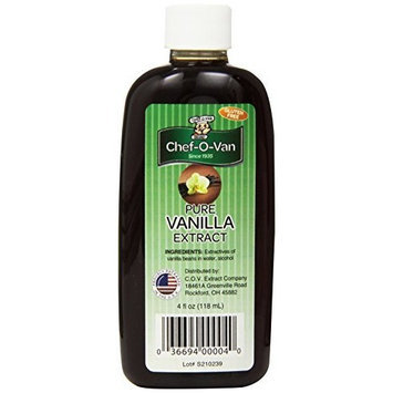 Chef O Van Extract Pure Vanilla, 4-Ounce (Pack of 3)