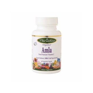 Paradise Herbs Amla Food Nutrient Vitamin C, Veggie Caps 60 ea