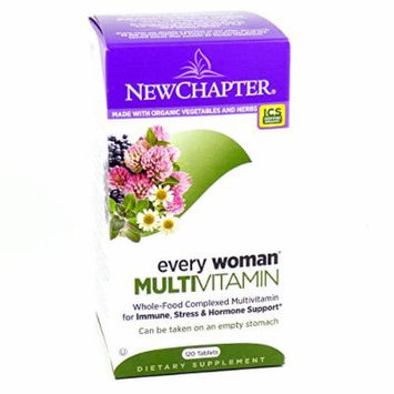 Bundle - 2 Items: 1 Bottle of Every Woman Whole Food Multivitamin By New Chapter - 120 Tablets and 1 VDC Pill Box
