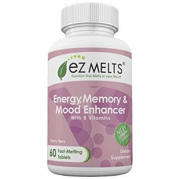 EZ Melts Energy, Memory & Mood Enhancer, Fast Melting Tablets