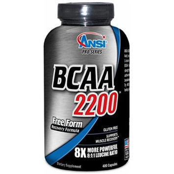 ANSI - BCAA 2200 - 8X More Powerful 8:1:1 Leucine - 400 Capsules