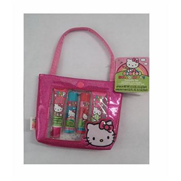 Hello Kitty Cosmetic Set - Contains 2 Lip Balms, 2 Lip Gloss and Tote Bag