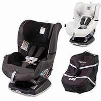 Peg Perego Primo Viaggio Infant Convertible Car Seat w Car Seat Travel Bag & Clima Cover, White (Atmosphere)