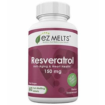 EZ Melts Resveratrol, 150 mg, Fast Melting Tablets