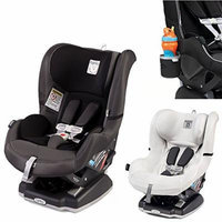 Peg Perego Primo Viaggio Infant Convertible Car Seat w Clima Cover, White & Cup Holder (Atmosphere)