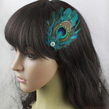 Nero Women's Handmade Peacock Feather Fascinator Hair Clips, Fascinator Headpieces