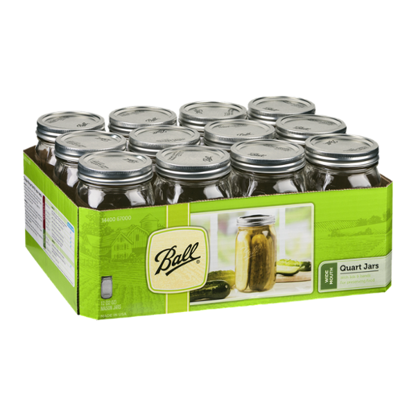 Ball Wide Mouth Quart Jars - 12 CT