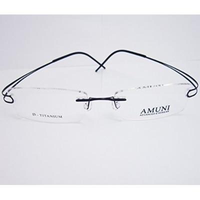 Spectacles for men KE Luxury Titanium Black Rimless Flexible Eyeglass Frame Spectacles Eyewear Rx-able