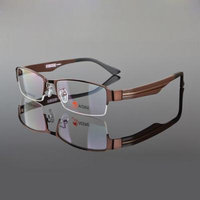 Spectacles for men KE Coffee TR90 Men's Sport Fashion Half rimless Eyeglass Frame BK optical Eyewear Rx 9585