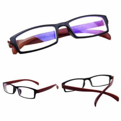 Glasses frames hipster KE Comfy Unisex Wood Grain Nearsight Myopia Glasses -1
