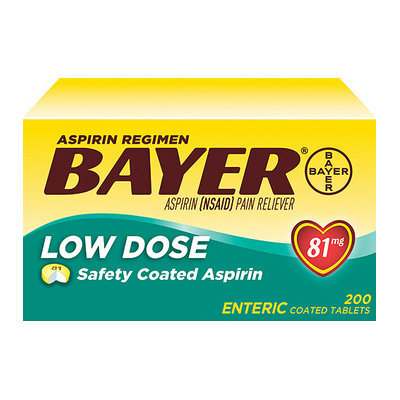 Bayer Low Dose Aspirin Regimen Pain Reliever - 200 Ct