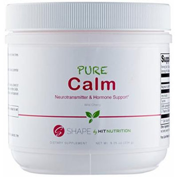 HIT Shape Pure Calm, 100% Naturally Flavored (Stevia) Drink Mix For Better Sleep, Relaxed Mood and Well Balanced Physiological State, Wild Cherry, 60 Servings/234 gram